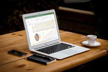 macbook laptop on a desk by  @Unsplash.com
